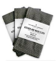TOC Küchen/Waschtuch 30x35cm 3er-Set dunkelgrau