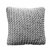 care by me Tube Pillow 40x40 light grey 100% Bio-Baumwolle