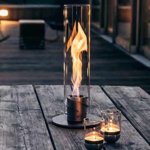 höfats SPIN Tischfeuer für drinnen und draußen