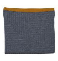 Sen-Sen Wohndecke grau uni mit farbigem Rand