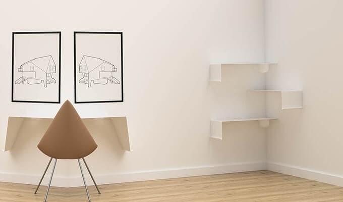 Nichba Design Wandregal SHELVE1 mit Schale