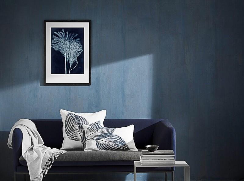 Pernille Folcarelli Bild 50x70 Silvergrass midnight blue